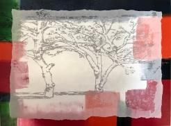 Im Garten_Druckplatte-Seidenpapier